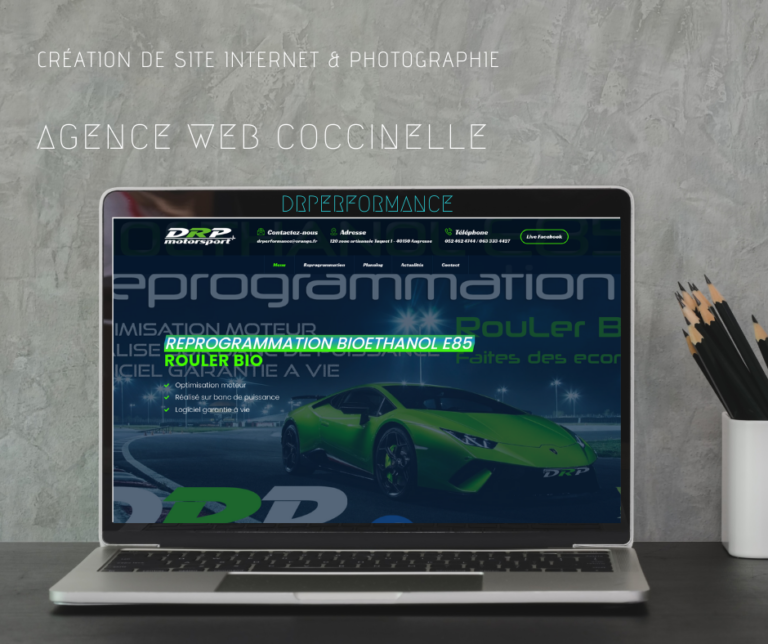 Création du site internet de DRPerformance Angresse